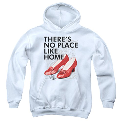 - Kids The Wizard Of Oz There's No Place Like Home Youth Hoodie, White, Medium