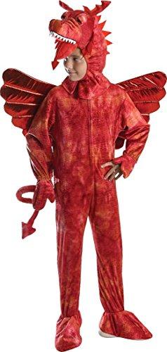 Red Dragon Costume 128cm (Women's Dragon Costume Uk)
