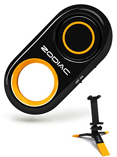 Premium Bluetooth Selfie Remote Control Camera Shutter + Mini Tripod for iPhone, Samsung Galaxy, Android - Amazing HD Selfie Clicker for Photos Videos, 30ft Range (Powered by USA Technology) - Orange
