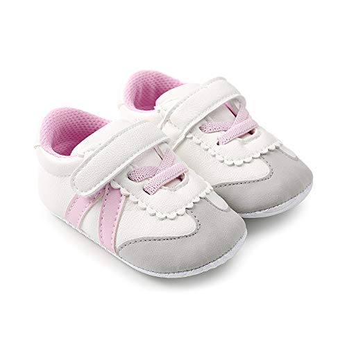 - Meckior Fashion Baby Sneakers Infant Baby Boys Girls Soft Sole Prewalker Crib Casual Shoes (12-18 Months Toddler, A-Pink)