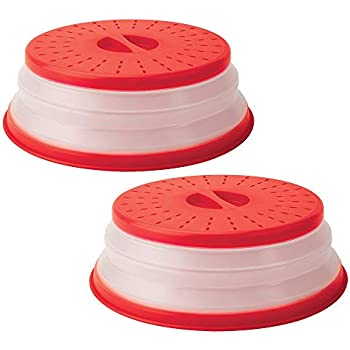 Collapsible Microwave Plate Cover Microwave cover for Food ,Dishwasher Safe,BPA Free,10.5 Inch,2 Pack