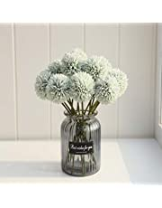 Artificial Chrysanthemum Ball Hydrangea Flowers Bouquet 10pcs Present for Important People Glorious Moral for Home Office Coffee House Parties and Wedding