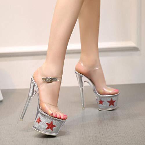 Pour Silver Imperméable Européenne Sandales Taille couleur Talons Superbes Hauts Silver Américaine D'été forme Et À 36 Femmes Plate HTxTrIdwSq