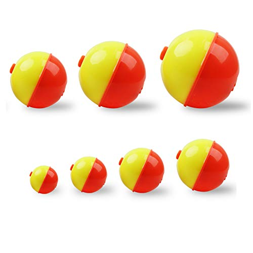 """ORANGE /& YELLOW 6 NEW 1 3//4/""""  ROUND Snap-On Fishing BOBBERS FLOATS NORTHERN"""