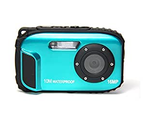 "ETTG BP88 Camera Waterproof Digital Video Camera 2.7"" TFT Screen 5mp Underwater 9 Mega 8x Zoom Digital Camera - Blue"