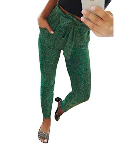 Con Eleganti Elastico Donna Grün Pantaloni Elastica Vita Cintura Moda Tempo In Autunno Libero Vita Pantaloni Pants Festa Casual Inclusa Monocromo Primaverile Vita Ragazze Pantaloni Style Alta Pantalone R1nBwqdFY