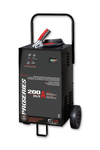 Schumacher PSW-2035 DSR ProSeries 200/35/2 Amp 12 Volt Manual Wheel Battery Charger/Starter ()
