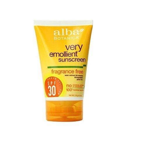 Alba Botanica Fragrance Free Sunscreen (Alba Botanica Sensitive Sunscreen SPF 30, Fragrance Free, 4 Ounce)
