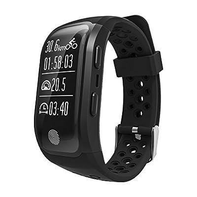 Pater Joy G03 GPS Bluetooth Waterproof Smart Bracelet Call Reminder ,Sleep Monitor Fitness Sports Bracelet (Black)