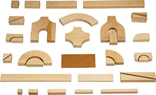 Unit Blocks - Starter Set Of 86 Pieces, 14 Shapes