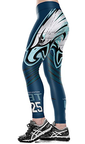 (Allonly Women's Active Eagle and Letters Digital Printed Skinny Stretch Footless Workout Leggings Running Sports)