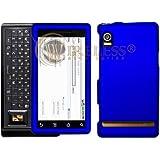 Blue Rubberized Protector Case Hard Cover for Motorola Droid A855 (Verizon Wireless)