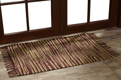 VHC Brands 18123 Natural Tan Primitive Americana Flooring Providence Chindi Rag Rug, 4 x 6