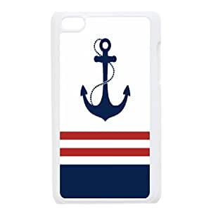 DIY Printed Nautical Anchor hard plastic case skin cover For Ipod Touch 4 SNQ633572