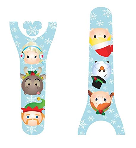 (Disney MagicBand Decal Sticker Skins Holiday Ice Princess and Snowman Themed Magic Band 2.0)