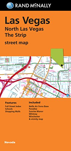 Folded Map: North Las Vegas The Strip Street - Vegas North Las