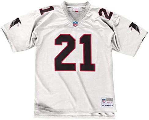 Mitchell   Ness Deion Sanders 1992 Atlanta Falcons Road White Legacy Jersey  Men. Mitchell   Ness Deion Sanders Atlanta Falcons White Throwback Men s  Jersey ... 985a4b562