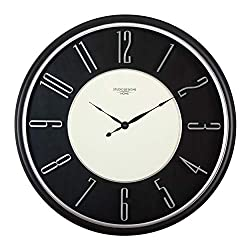 Studio Designs Home 29 Modern Raised Numeral Wall Clock, Black