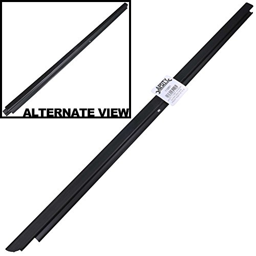 APDTY 112851 Window Outer Exterior Dew Wipe Weather-strip Belt Fits Front Right Door 2007-2015 Jeep Wrangler All Models (Replaces Mopar 55395268AD)