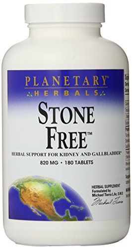 Planetary Herbals Stone Free 820mg Supplement Herbal Support – 180 Tablets Pack of 2