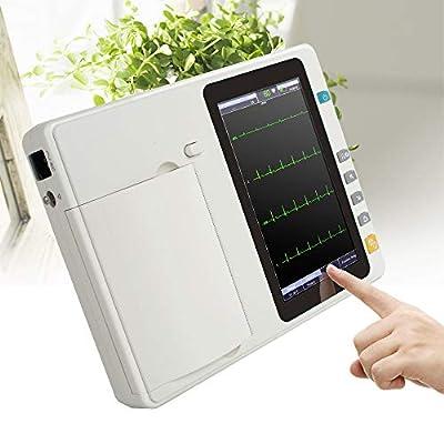 Denshine Portable 7'' LCD Touch Screen Digital 6 Channel Electrocardiograph ECG/EKG Machine Adapt 110-240V, 50/60Hz AC Power Supply