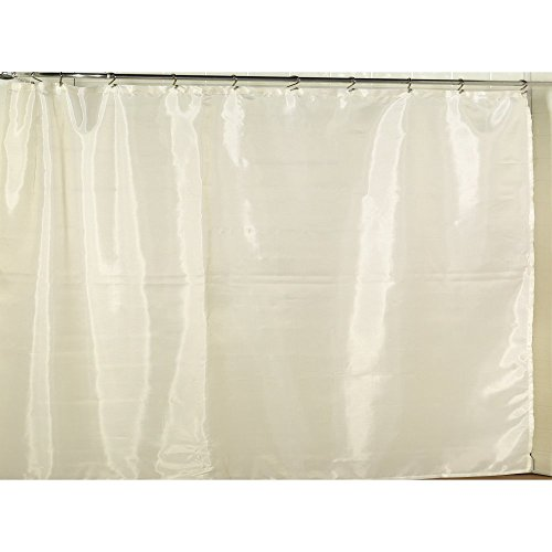 Carnation Home Fashions Fabric Shower Curtain Liner with Weighted Bottom Hem - Extra Wide Size 108