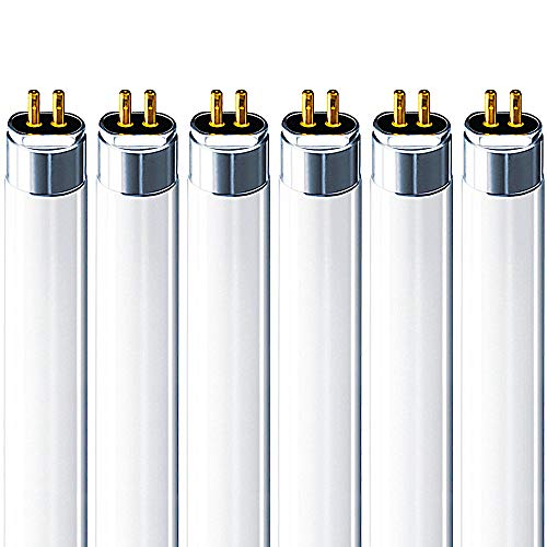 Luxrite F14T5/835 14W 22 Inch T5 Fluorescent Tube Light Bulb, 3500K Natural White, 60W Equivalent, 1140 Lumens, G5 Mini Bi-Pin Base, LR20857, 6-Pack ()