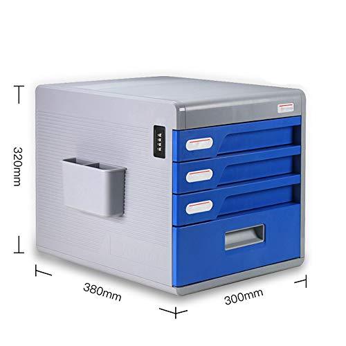 Escritorio con cajón de cerradura Información de tipo Oficina A4 Archivo pequeño Gabinete de almacenamiento de plástico...