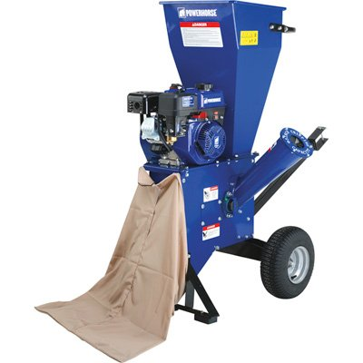 Powerhorse Chipper/Shredder - 212cc OHV Engine, 3in. Capacity
