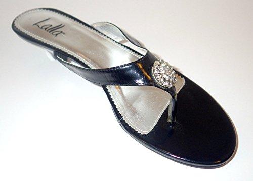 Lalla Black Slide with Rhinestone Accent Moon Dance - Lalla Dress