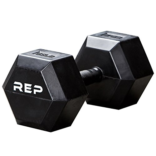 REP FITNESS Unique Rubber Grip Handle Dumbbells – Perfect for Cold Garage Gyms