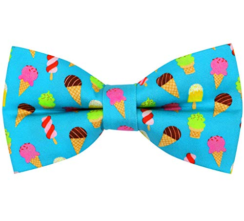OCIA Cotton Cute Pattern Pre-tied Bow Tie Adjustable Bowties for Adult & Children Icecream