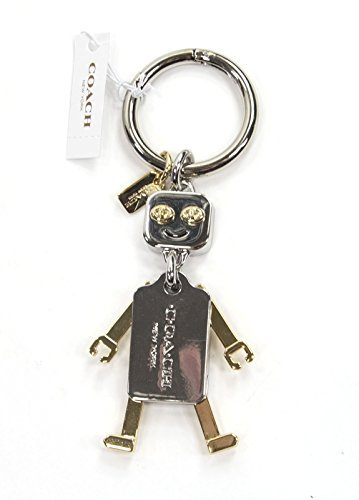 Coach Metal Robot Key Fob Purse Charm in Gold / Nickel 65429