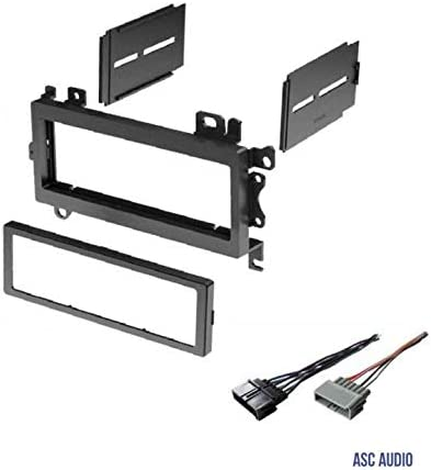 Radio Replacement Dash Mount Install Kit 1-DIN w//Pocket for Chrysler//Dodge//Jeep
