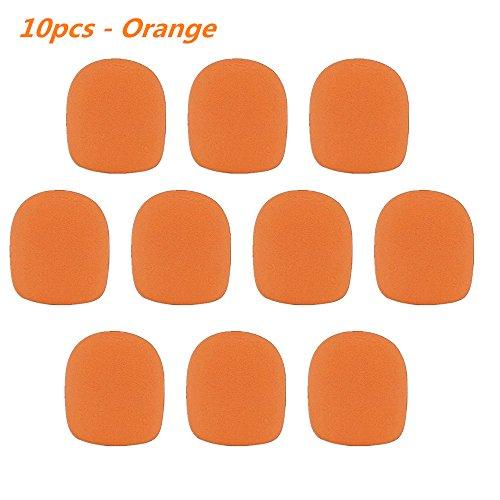 Foam Ball-Type Mic Windscreen, FuzzyGreen Pack of 10 PCS Orange Set Handheld Stage Microphone Sponge Foam Cover Shield Protection