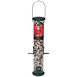 Droll Yankees RPS15G 15-Inch Ring Pull Tube Seed Feeder, Forest Green