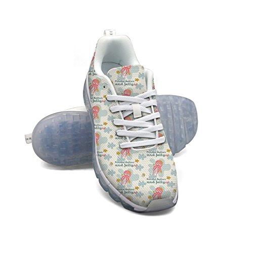 FAAERD Kawaii Funny Humor Jellyfish Peanut Butter Men's Fashion Lightweight Mesh Air Cushion Sneakers Running Shoes 2015 new for sale skeOIu