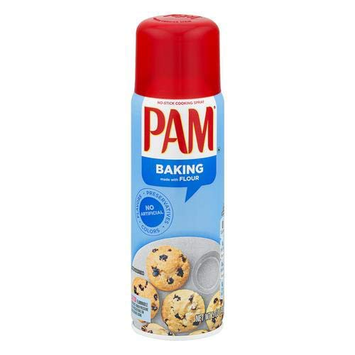 Pam Canola Oil Baking Spray with Flour (Pack of 6)