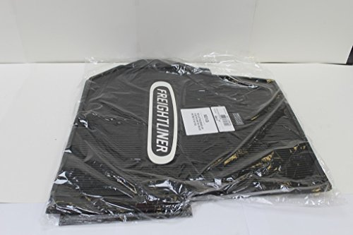 Freightliner Columbia & Coronado Black All-Weather Rubber Floor Mats OEM with Logo - Fits All Years