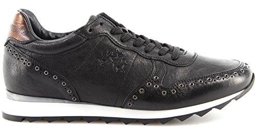 Italy La Jersey L4144137 Mujer Sneakers Piel In Zapatos Made Martina Nero New PZwYTPrxq