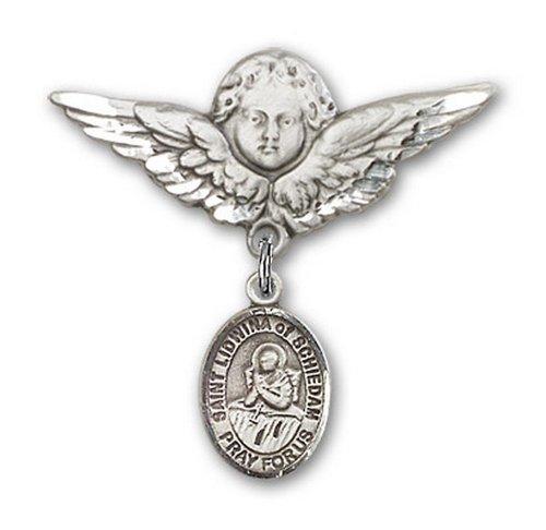 Icecarats Créatrice De Bijoux En Argent Sterling St. Lidwina De La Broche Badge Schiedam Charme D'Ange 1 1/8 X 1 1/8
