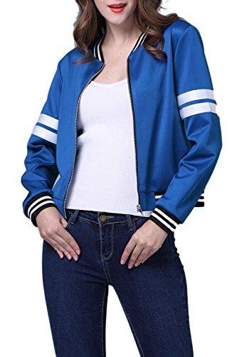 Donne Della Collare Blu Quotidianamente Giacche Occasionale Le Nimpansa Il Lunga Manica Sono Giacca w4Xx5FR
