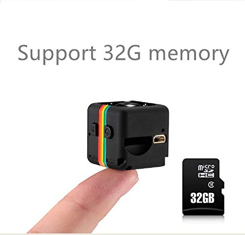 Mini Spy Camera 1080P Hidden Camera with 32G SD Card Night Vision and Motion Detective Security Nanny Cam Home,Car,Office Indoor Outdoor - No WiFi Need