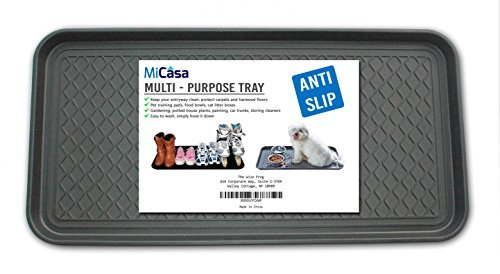 Multi-Purpose Anti-Slip Tray and Mat for Boots, Dog Food Bowls, Cat Litter, Painting, Shoes, Gardening, Laundry, Kitchen, Garage, Entryway. Protect Your Floor, Utility Tray. 30
