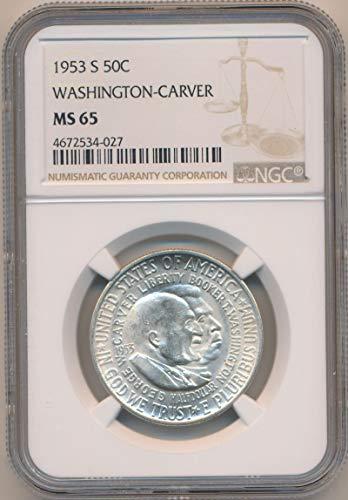 1953 S Half Dollar Washington Carver MS65 NGC ()
