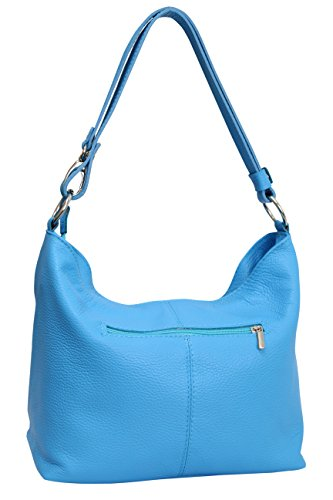 cross Moda body Women's Bag Hellblau Hobo Handbag Ambra Bag shoulder Gl005 2 Leather WfgqCxnTa