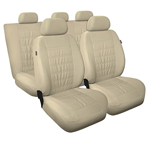 Hyundai Santa Fe Beige Housses de siège universel Housse de siège pour voiture Housses de protection Housse de protection pour siège auto Siège auto moderne
