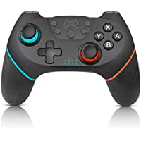 AlpenTech Control Inalámbrico para Nintendo Switch con doble vibración ⎮ Señal hasta 10 metros de Distancia ⎮ Sensor de movimiento ⎮Cable USB ⎮ 6 hrs de tiempo de juego ⎮ Color Negro ⎮ PC alámbricamente
