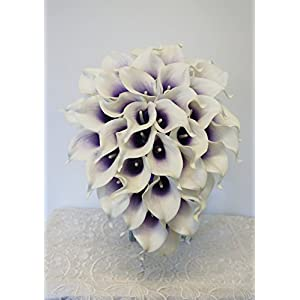 Sweet Home Deco Real Touch Calla Lily Wedding Bride Bouquet/Boutonniere/Corsage Artifiial Flower Wedding Flower Package 15