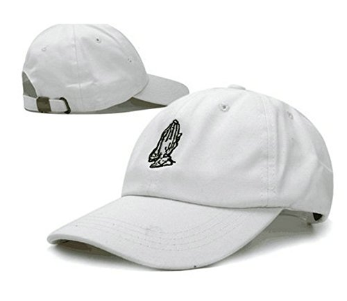 wendy-wu-praying-hands-embroidered-soft-unstructured-adjustable-hat-cap-white